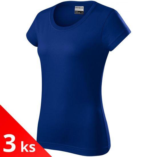 Rimeck 3x Kráľovsky modré Odolné dámske tričko hrubšie