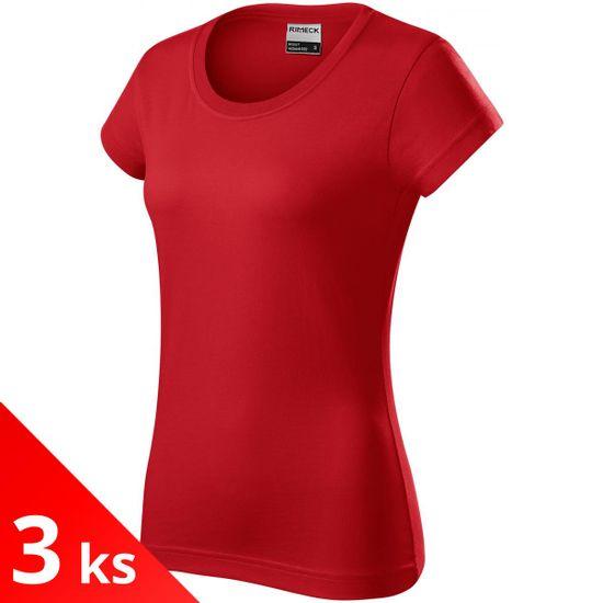Rimeck 3x Červené Dámske odolné tričko