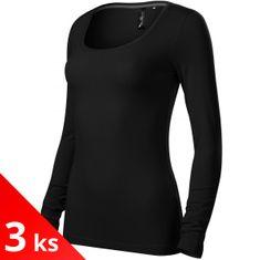 Malfini Premium 3x Dámske tričko s dlhými rukávmi a hlbším okrúhlym výstrihom