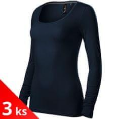 Malfini Premium 3x Dámské triko s dlouhými rukávy a hlubším kulatým výstřihem