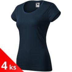 Malfini 4x Dámské zúžené tričko s kulatým hlubším výstřihem