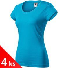 Malfini 4x Dámske zúžené tričko s okrúhlym hlbším výstrihom