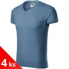 Malfini 4x Pánske priliehavné tričko s V-výstrihom