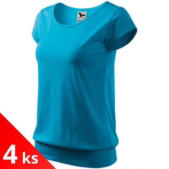 Malfini 4x Tyrkysové Dámské pohodlné tričko