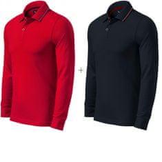 Malfini Premium 2x Pánská kontrastní polokošile s dlouhými rukávy