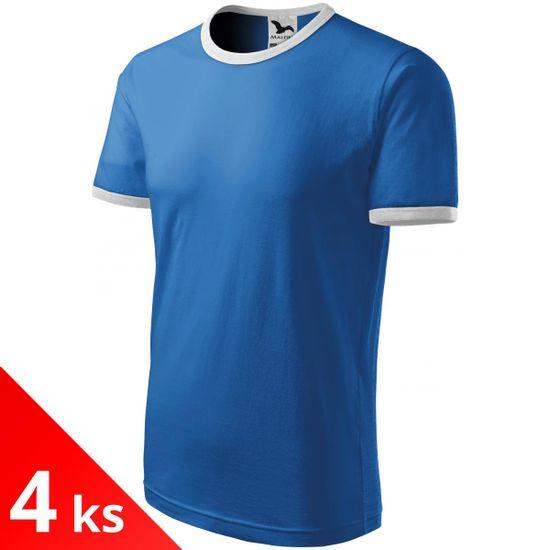 Malfini 4x Svetlomodré Detské tričko kontrastné