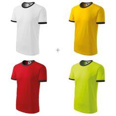 Malfini 4x Detské tričko kontrastné