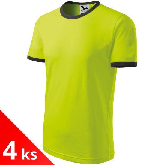 Malfini 4x Limetkové Detské tričko kontrastné