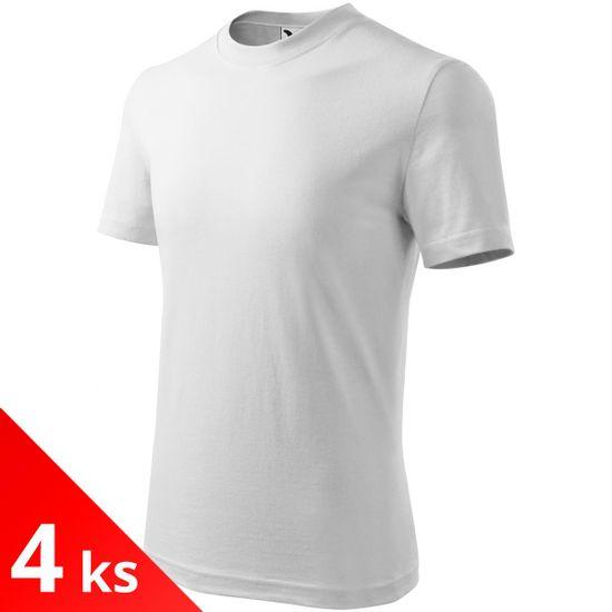 Malfini 4x Biele Detské tričko klasické