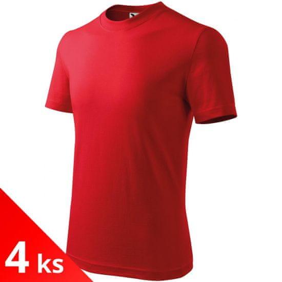Malfini 4x Červené Detské tričko klasické