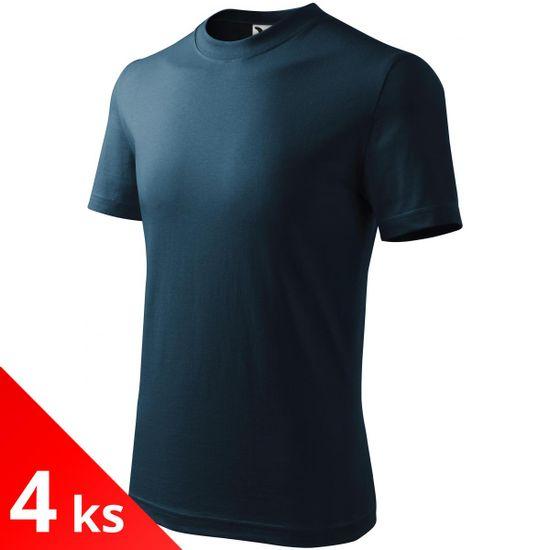 Malfini 4x Tmavomodré Detské tričko klasické