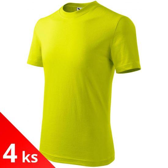 Malfini 4x Limetkové Detské tričko jednoduché