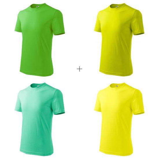 Malfini 4x Detské tričko jednoduché (Jablkovo zelené + Limetkové + Mätové + Citrónové)