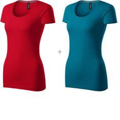 Malfini Premium 2x Dámske ozdobené tričko