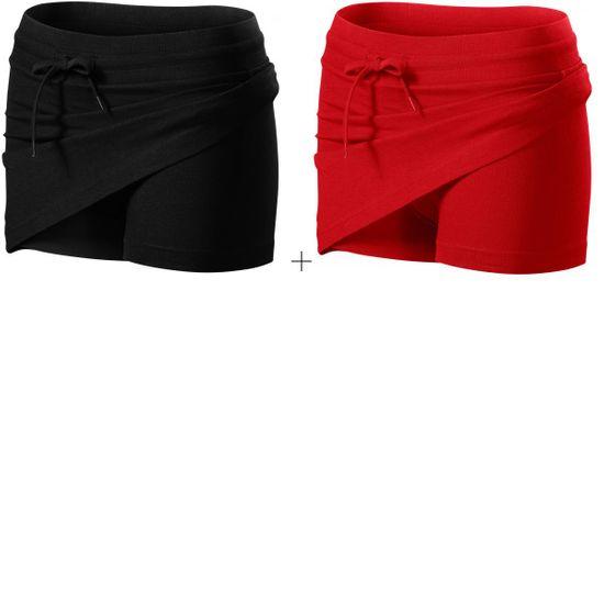 Malfini 2x Sukňa dámska 2v1 (Čierna + Červená)