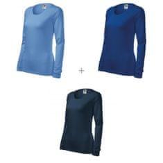Malfini 3x Dámske tričko s dlhými rukávmi a okrúhlym výstrihom