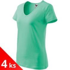 Malfini 4x Dámske tričko s V-výstrihom