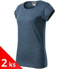 Malfini 2x Dámské triko s vyhrnutými rukávy