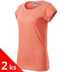 Malfini 2x Dámske tričko s vyhrnutými rukávmi