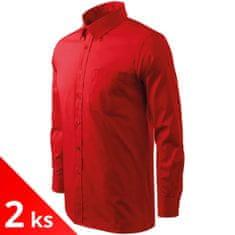 Malfini 2x Pánska košeľa s dlhým rukávom