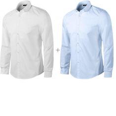 Malfini Premium 2x Pánska košeľa s dlhým rukávom Slim fit