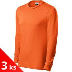 Rimeck 3x Pánske odolné tričko s dlhými rukávmi