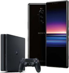 SONY Xperia 1, 6GB/128GB, čierna + PS4 + hra Fortnite