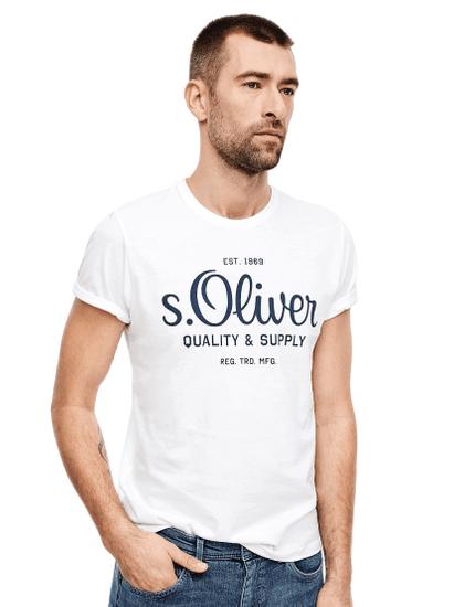 s.Oliver pánske tričko 03.899.32.5264, XXXL, biele