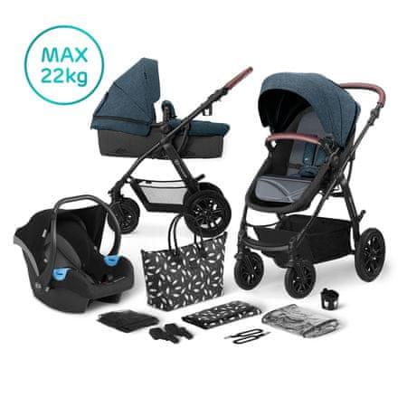 KinderKraft KinderKraft otroški voziček 3v1 XMOOV, Denim