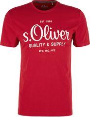 s.Oliver Pánske tričko 03.899.32.5264.3185 Marker red