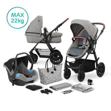 KinderKraft KinderKraft otroški voziček 3v1 XMOOV, Grey/siv