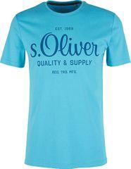 s.Oliver Pánske tričko 03.899.32.5264.6242 Turquoise