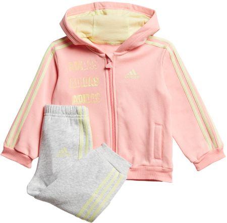 Adidas komplet dresowy dziecięcy I LOG FZHD J FL 92 różowy