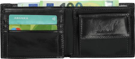 Renato Balestra moška usnjena denarnica, črna (78613)