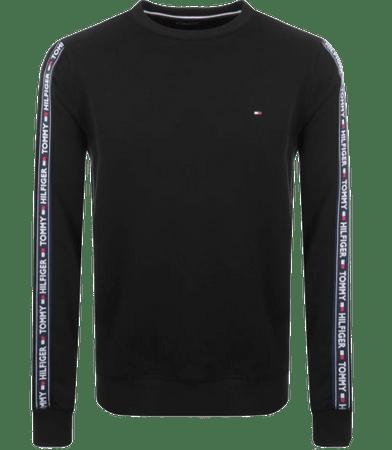 Tommy Hilfiger férfi pulóver UM0UM00705 Track Top LS HWK, S, fekete