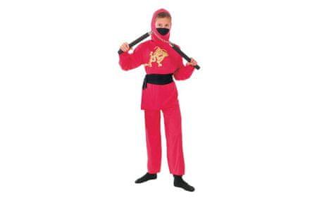 Unikatoy otroški pustni kostum ninja, rdeč (24801)