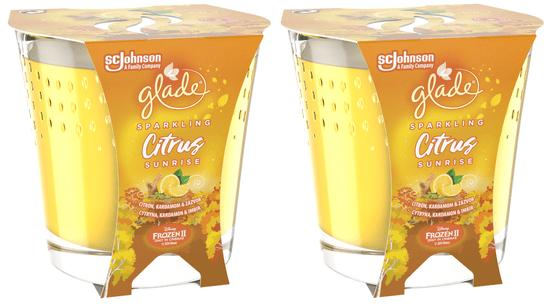 Glade 2 x svíčka Citrus Sunrise 129 g