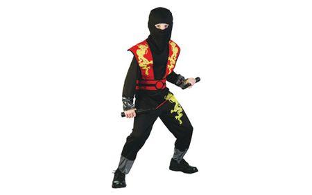 Unikatoy otroški pustni kostum ninja zmaj, rdeč (24284)
