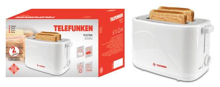 Telefunken TF93363 opekač kruha, 750 W, Pop-Out