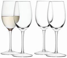 LSA International Wine skleničky na bílé víno 260ml, čiré set 4ks, LSA, Handmade