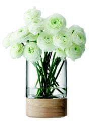 LSA International LSA Lotta skleněná váza s jasanem 18cm, Handmade
