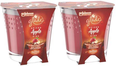 Glade 2 x svečka Spiced Apple Kiss, 129 g
