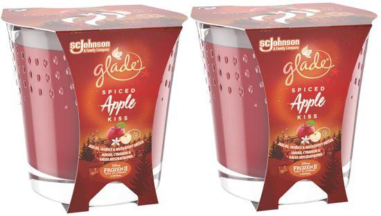 Glade 2 x svíčka Spiced Apple Kiss 129 g