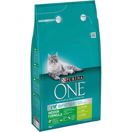 Purina karma sucha dla kotów ONE z indykiem Indoor - dla kotów niewychodzących 3 kg