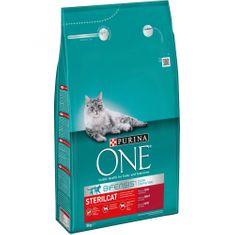 Purina ONE s hovädzím pre kastrované mačky 3 kg
