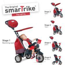 Smart Trike Trojkolka Splash - Červená