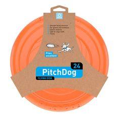 Pitch Dog leteći frizbi za pse, narančasta, 24 cm