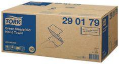 Tork Singlefold papírové ručníky Advanced zelené H3 - 290179