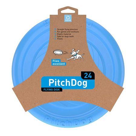Pitch Dog leteći frizbi za pse, plava, 24 cm