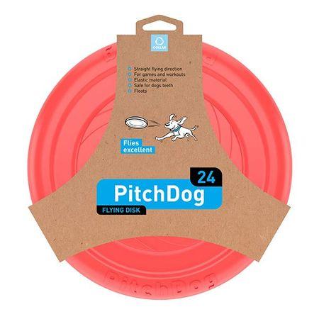 Pitch Dog leteći frizbi za pse, roza, 24 cm